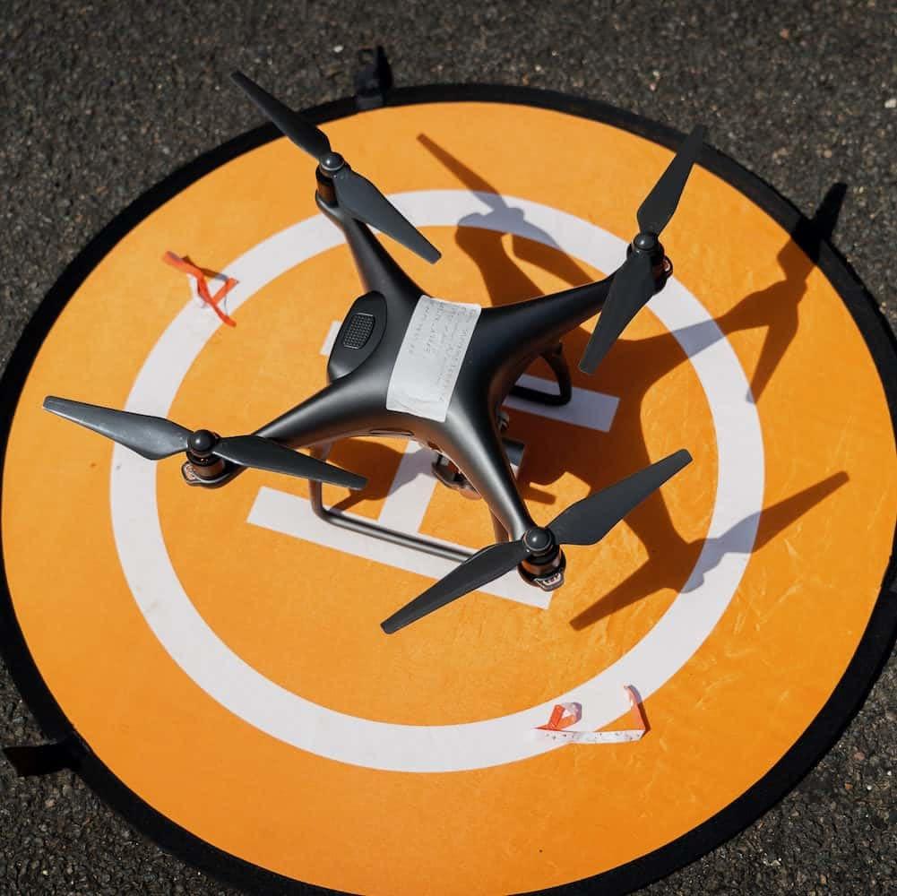 drone posé sur cible