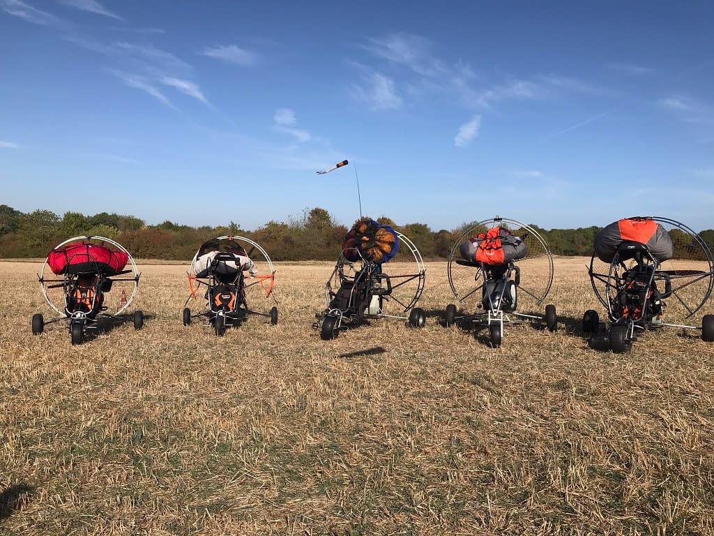chariots paramoteur tournage